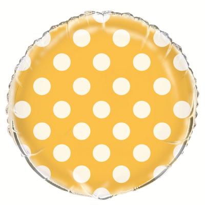 Polka Dots Sunflower Yellow Foil Balloon