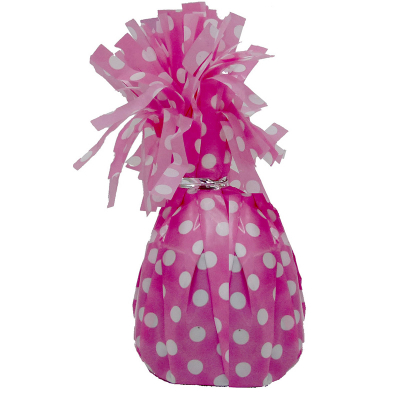 Polka Dots Balloon Weight Hot Pink