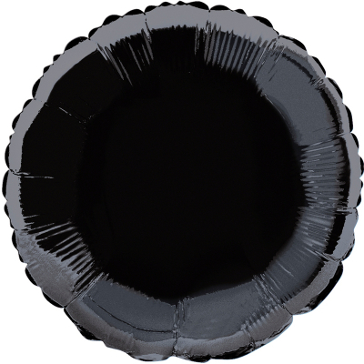 Round 45cm Foil Balloon Black