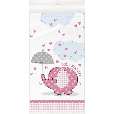 Umbrellaphants Pink Tablecover