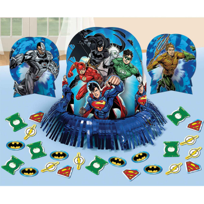 Justice League Table Decorating Kit 23PK
