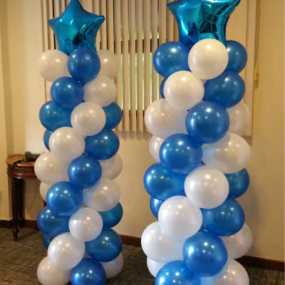 Balloon Column with Small Star Foil Balloon