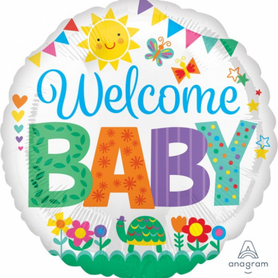 45cm Standard Foil Balloon Welcome Baby Cute Icons