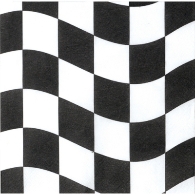Black & White Checkered Lunch Napkins 18PK