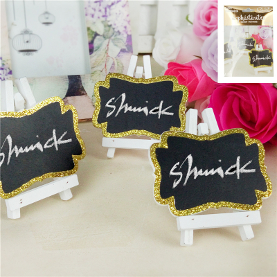 Glitter Gold Mini Blackboard 3PK