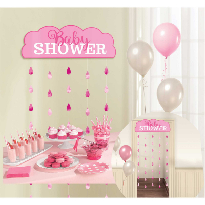 Baby Shower Pink Door Curtain