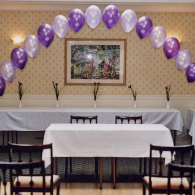 Regular String of Pearls Helium Balloon Arch