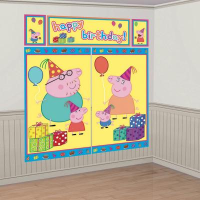 Peppa Pig Scene Setter Wall Decorations Kit Plastic 5PK