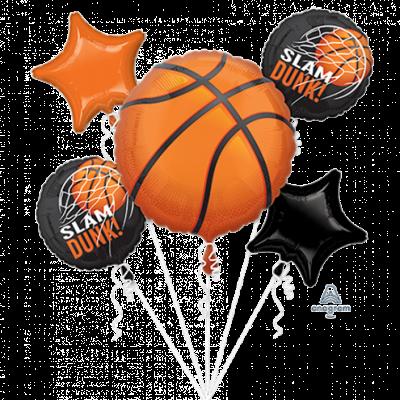 Basketball Fan Foil Balloon Bouquet 5PK