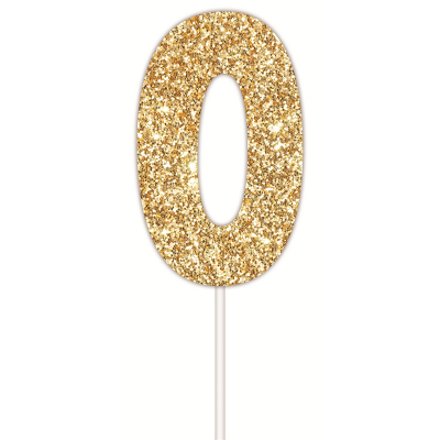 Golden Glitter Cake Topper 0