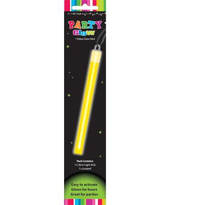 Glow Stick With Lanyard Yellow