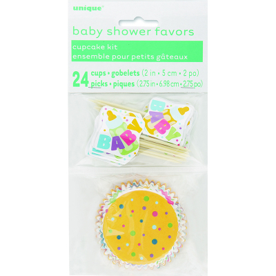 Baby Shower Cupcake Kit 24PK