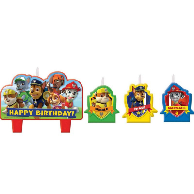 Paw Patrol Birthday Candle Set 4PK
