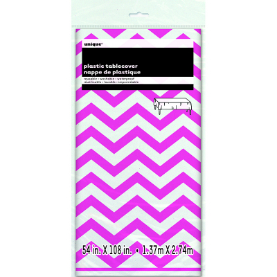 Chevron Tablecover Hot Pink
