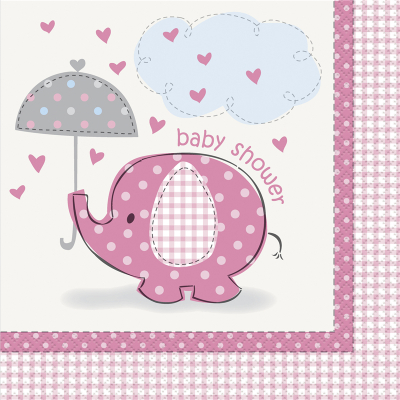 Umbrellaphants Pink Lunch Napkins 16PK