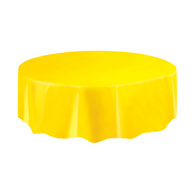 Round Plastic Tablecover Yellow