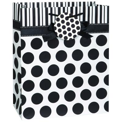 Polka Dots Gift Bag Midnight Black
