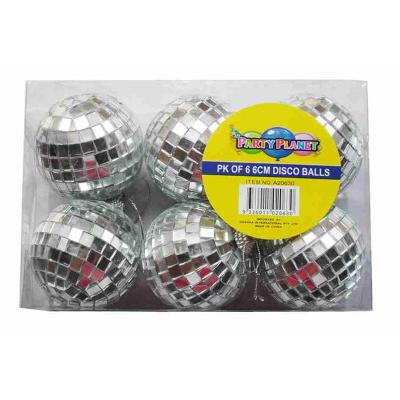 Disco Mirror Ball 6cm 6PK