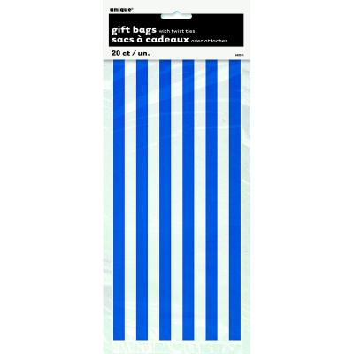 Stripes Royal Blue Cello Bag 20PK