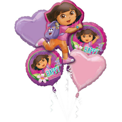 Dora The Explorer Foil Balloon Bouquet 5PK