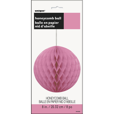 Hanging Honeycomb Ball 20cm Hot Pink