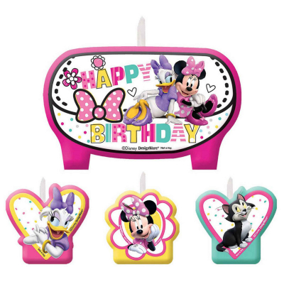 Minnie Mouse Happy Helpers Birthday Candle Set 4PK