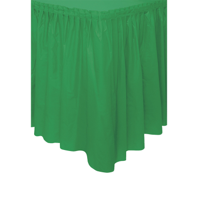 Plastic Tableskirt Lime Green