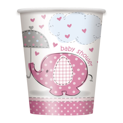 Umbrellaphants Pink Cups 8PK