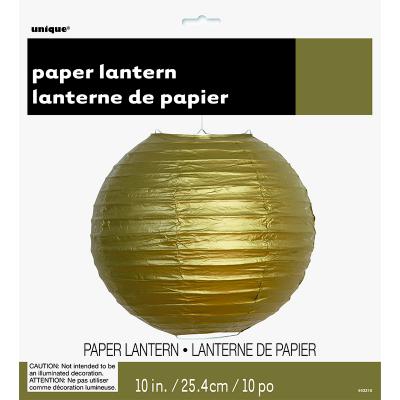 Round Lantern 25cm Gold