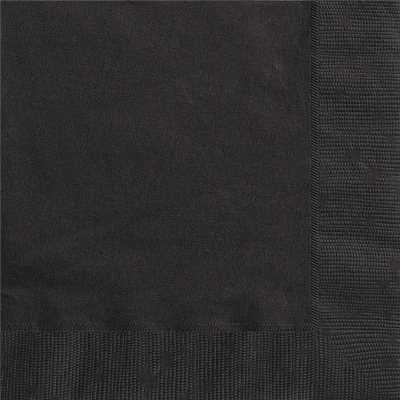 Luncheon Napkin Black 20PK