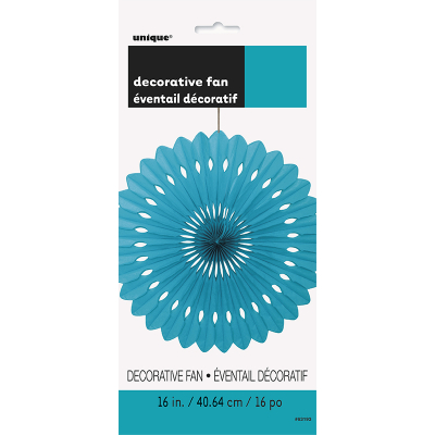 Hanging Decorative Fan 40cm Teal