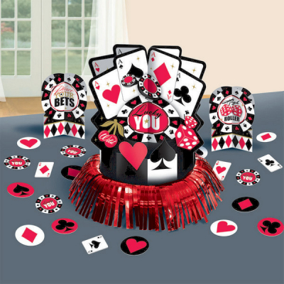 Place Your Bets Table Decorations Kit 23PK