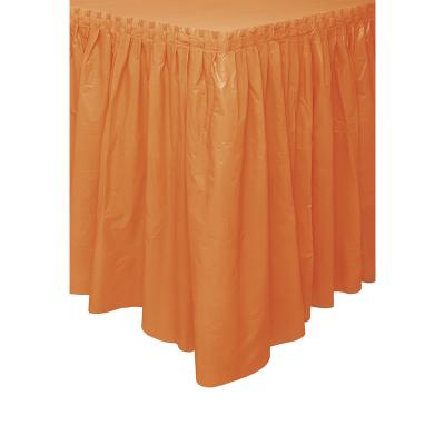 Plastic Tableskirt Orange