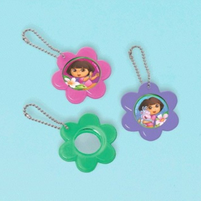 Dora's Flower Adventure Mirror Keychain Favor 12PK