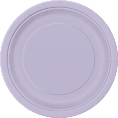 Paper Around Plates 18cm - Lavender 8PK