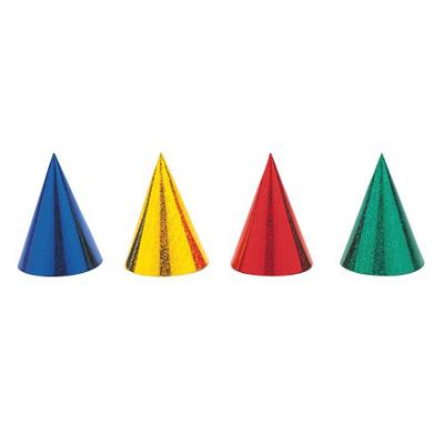 Party Hats Prismatic Multi Colour 8PK