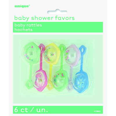 Baby Rattles Assorted 6PK