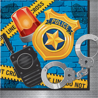 Police Party Lunch Napkins 16PK