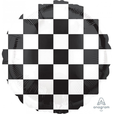 45cm Standard Foil Balloon Checkerboard