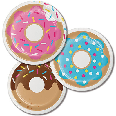 Donut Time Lunch Plates 8PK