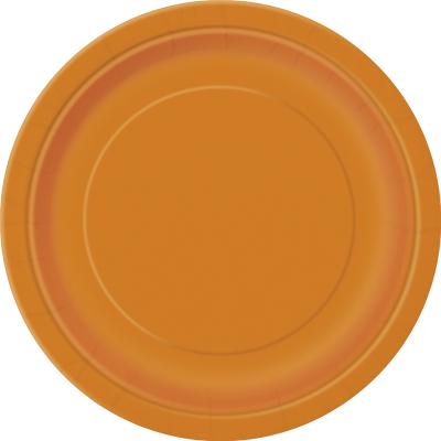 Paper Around Plates 23cm - Orange 8PK