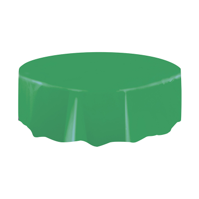 Round Plastic Tablecover Dark Green