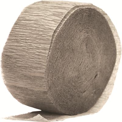 Crepe Paper Streamer 24M Metallic Silver