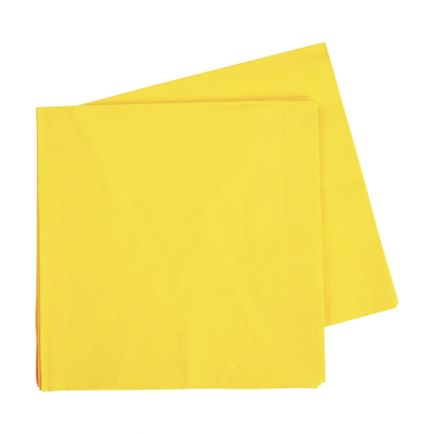 Five Star Lunch Napkin 33cm Canary Yellow 40PK