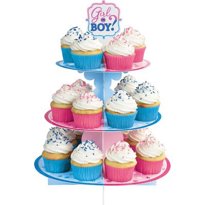Girl or Boy? Treat Cupcake Stand Cardboard