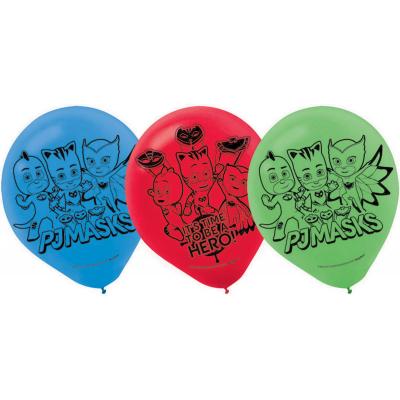 PJ Masks 30cm Latex Balloons 6PK
