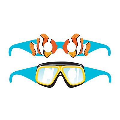 Ocean Party Glasses Assorted Designs 6PK