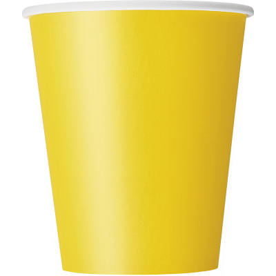 Paper Cups - Yellow 8PK