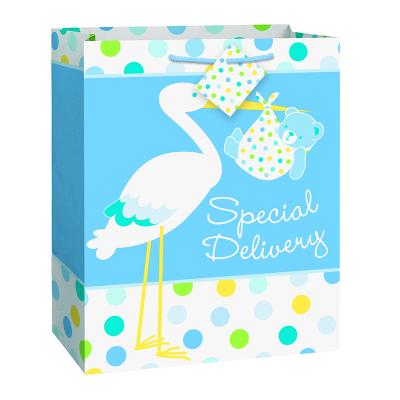 Boy Stork Gift Bag