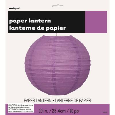 Round Lantern 25cm Purple